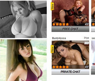 Webcam Girls with great boobs
