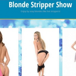 Blonde Stripper Show Clip001